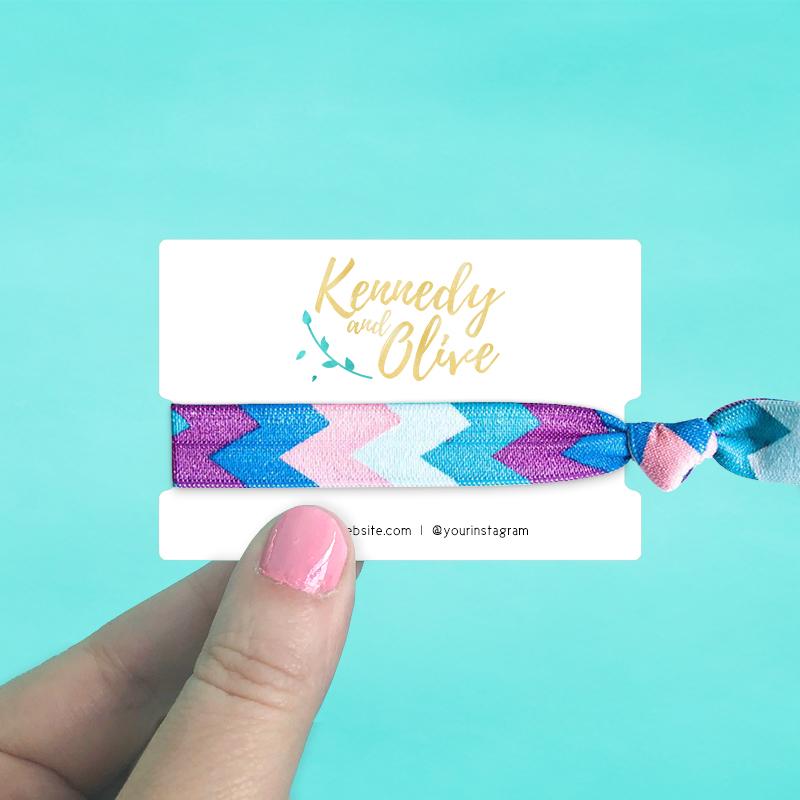 Hair Tie Display Cards