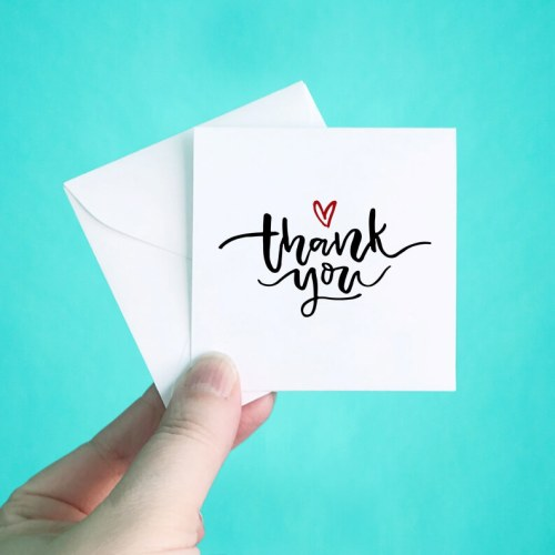 Heart Mini Thank You Note Cards