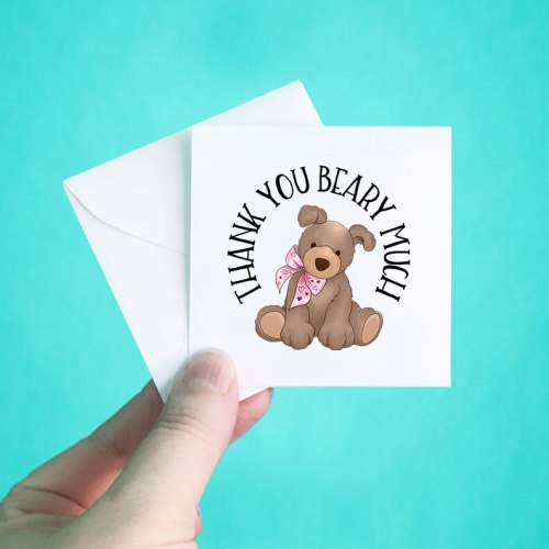 Teddy Bear Mini Thank You Note Cards