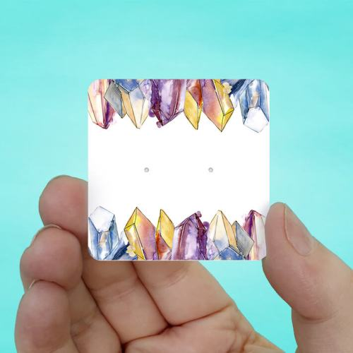 Raw Gems Stud Earring Cards