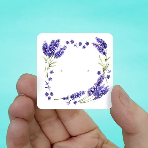 Lavender Stud Earring Cards