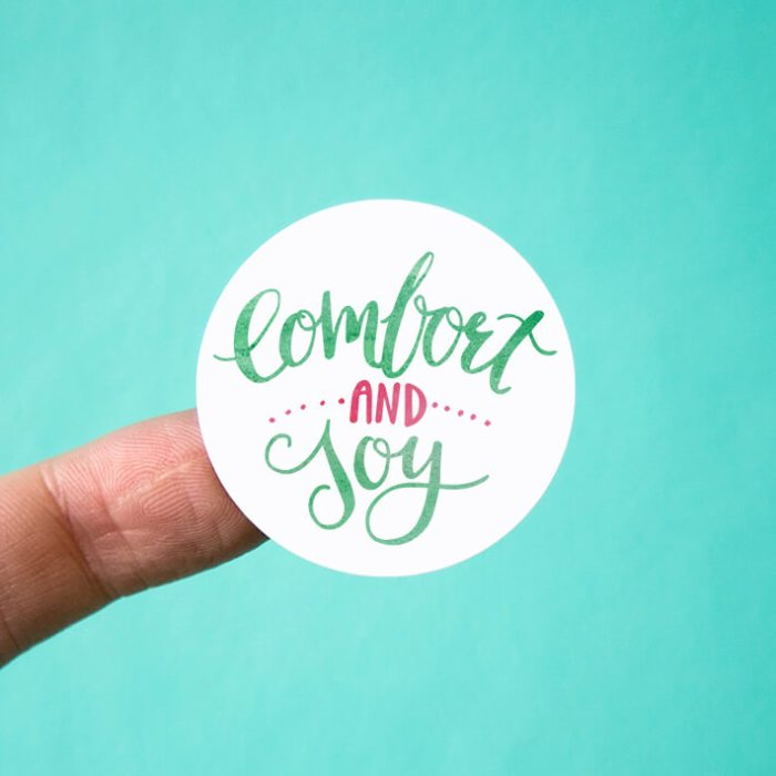 Comfort and Joy Stickers