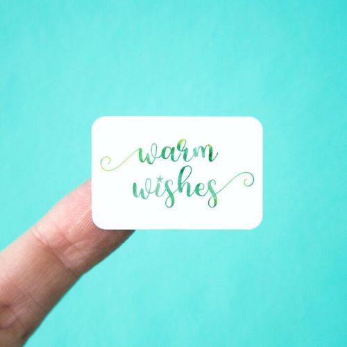 Warm Wishes Stickers