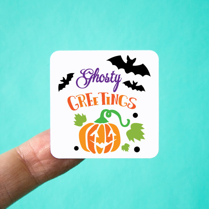 Ghostly Greetings Halloween Stickers