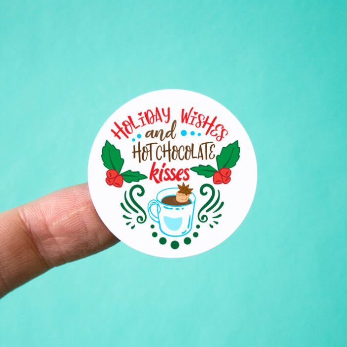 Holiday Wishes and Hot Chocolate Kisses Stickers
