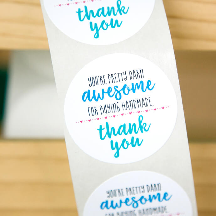 You're Pretty Darn Awesome Thank You Stickers