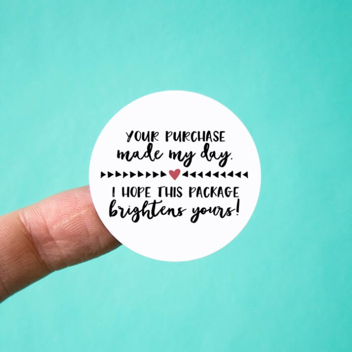 Your Purchase Made My Day Stickers