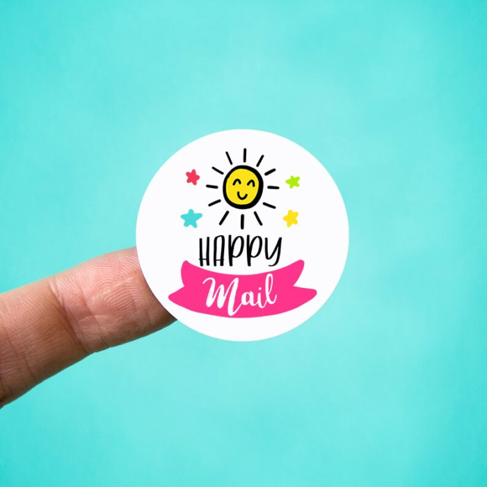 Happy Mail Sunshine Envelope Stickers