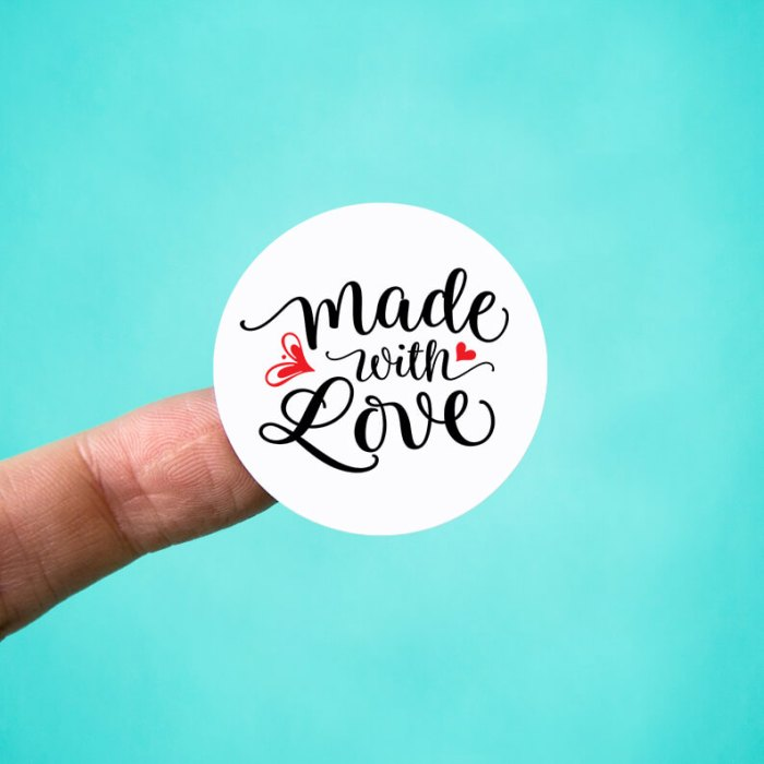 Made with Love Stickers