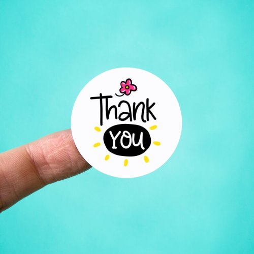 Fun Flower Thank You Stickers