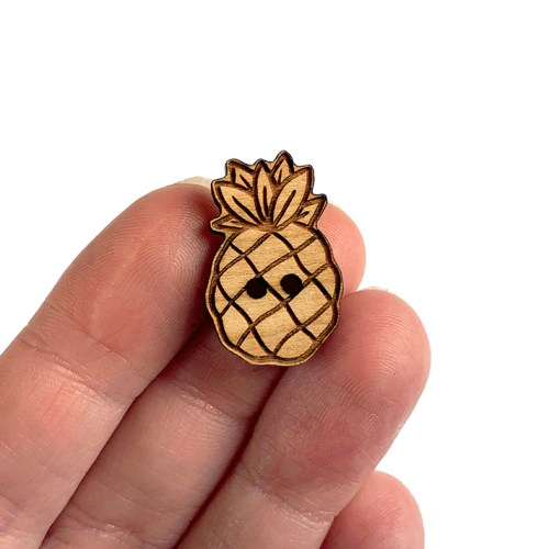 Pineapple Wooden Buttons