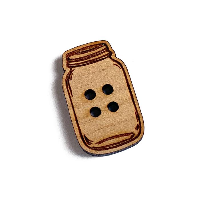 Mason Jar Wooden Buttons