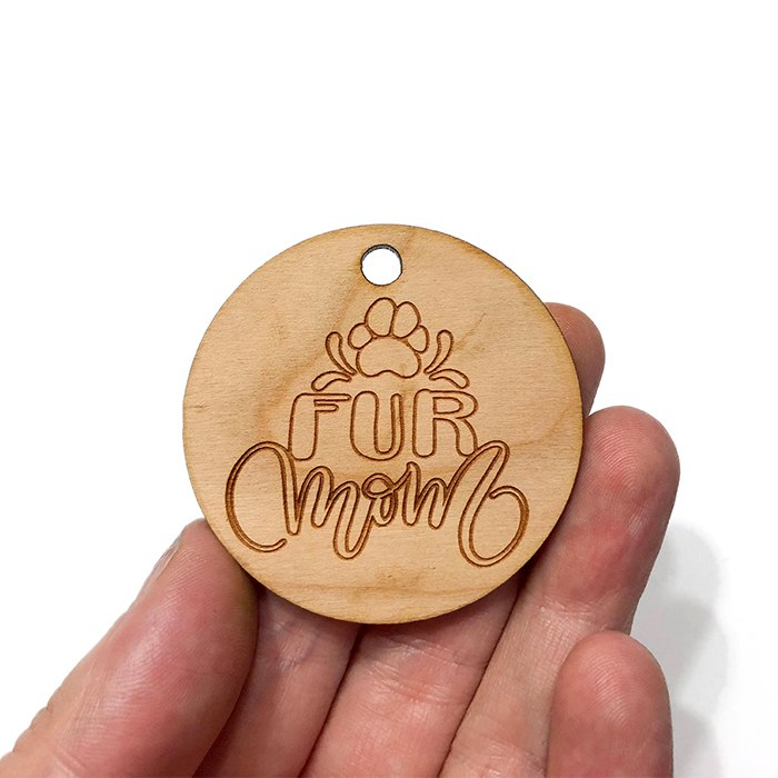 Fur Mom Wooden Charms