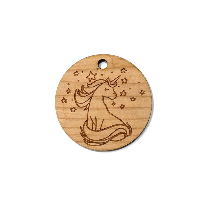 Unicorn & Stars Wooden Charms