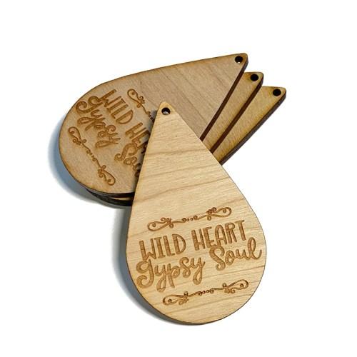 Wild Heart Gypsy Soul Wooden Drop