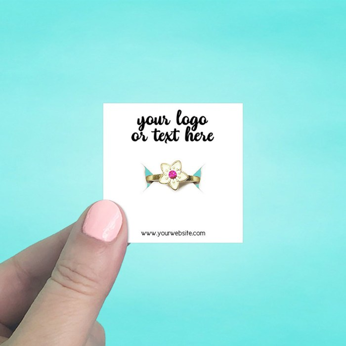 """Set of 115 2 x 2"""" Square Ring Display Cards"""