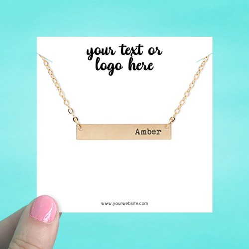 "Set of 34 3.5 x 3.5"" Square Necklace Display Cards"