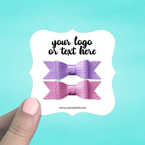 """Set of 42 3 x 3"""" Square Bracket Hair Bow Display Cards"""