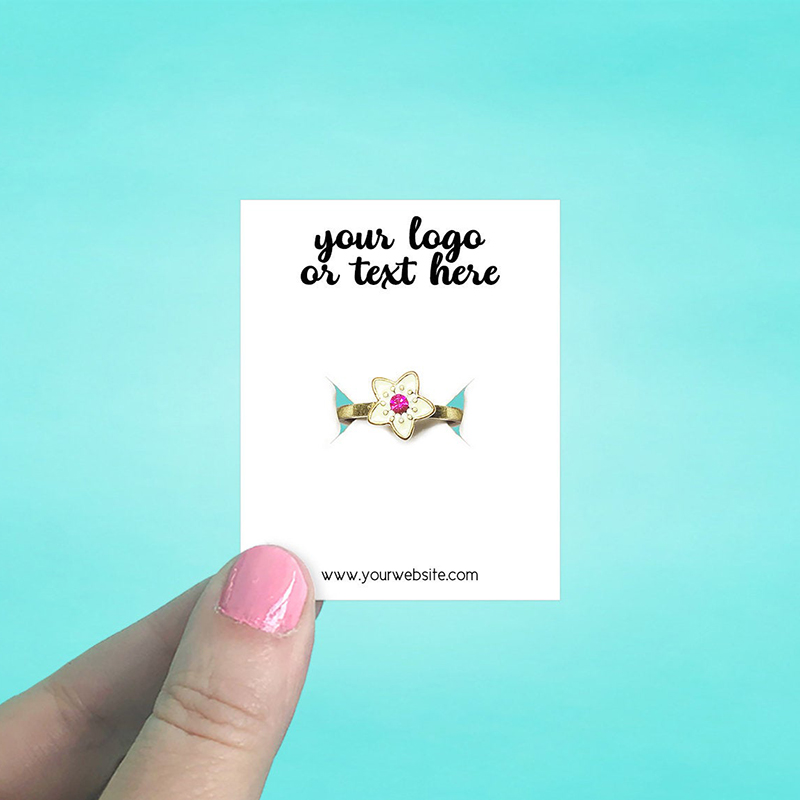 """Set of 86 2 x 2.5"""" Rectangle Ring Display Cards"""