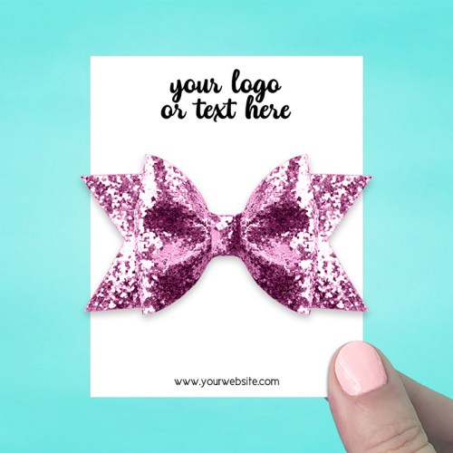 "Set of 34 3 x 3.75"" Rectangle Hair Bow Display Cards"