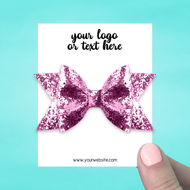 """Set of 34 3 x 3.75"""" Rectangle Hair Bow Display Cards"""