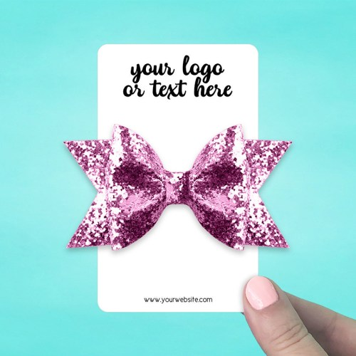 "Set of 28 3 x 5"" Rounded Rectangle Hair Bow Display Cards"
