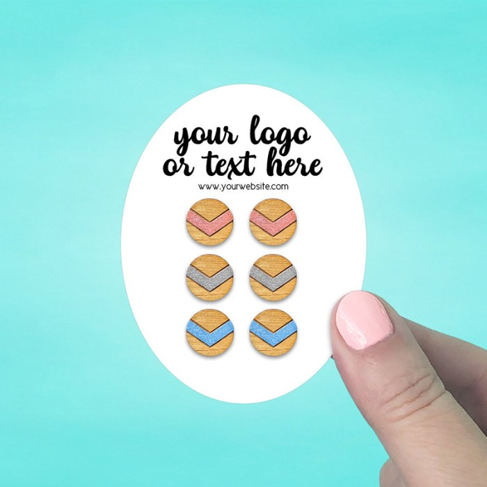 """Set of 58 2.5 x 3.25"""" Oval Earring Display Cards"""