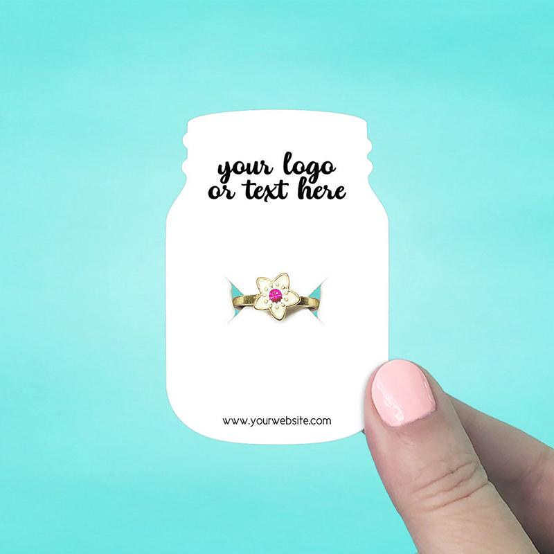 "Set of 72 2 x 3"" Mason Jar Ring Display Cards"