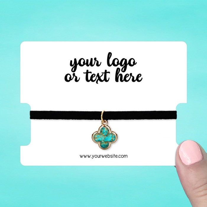 """Set of 34 3 x 4"""" Rounded Rectangle Choker Display Cards"""