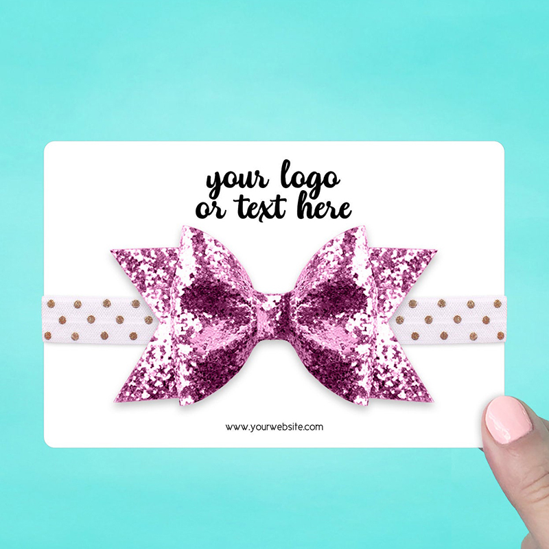 """Set of 24 6 x 4"""" Rounded Rectangle Hair Band Display Cards"""