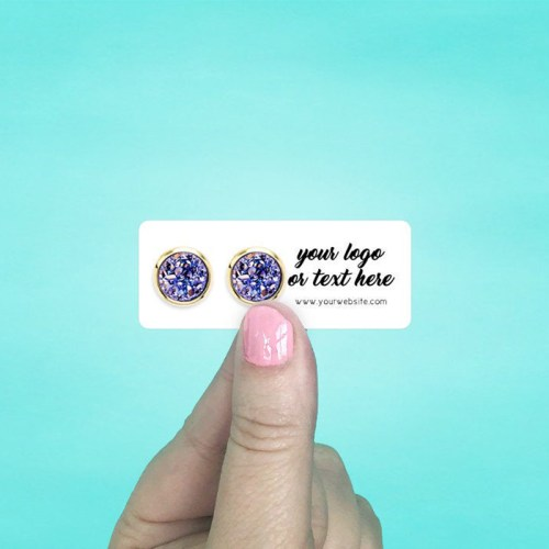 """Set of 110 2.5 x 1"""" Rounded Rectangle Mini Earring Display Cards"""