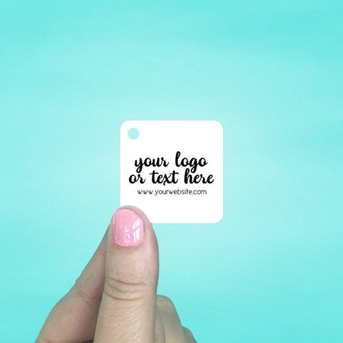 "Set of 115 1.5 x 1.5"" Rounded Square Hang Tags"