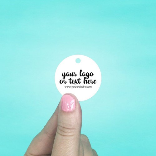 "Set of 115 1.5 x 1.5"" Circle Hang Tags"