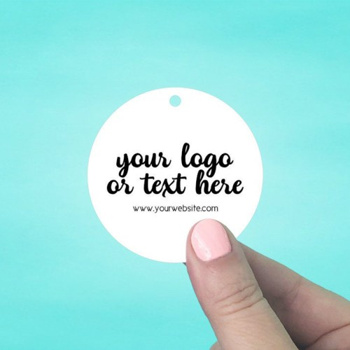 "Set of 45 2.5 x 2.5"" Circle Hang Tags"