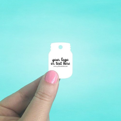 "Set of 170 1 x 1.5"" Mason Jar Shaped Hang Tags"
