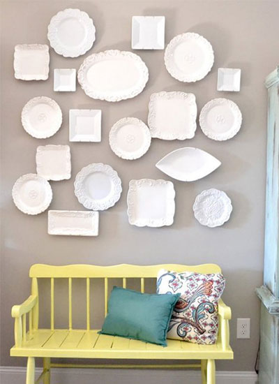 Decorating With Plates   SA D    cor   Design decorate with plates 15