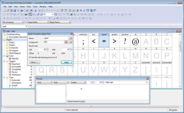 High-Logic FontCreator Professional Full Version