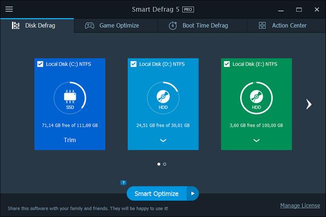 IObit Smart Defrag Pro License Keys