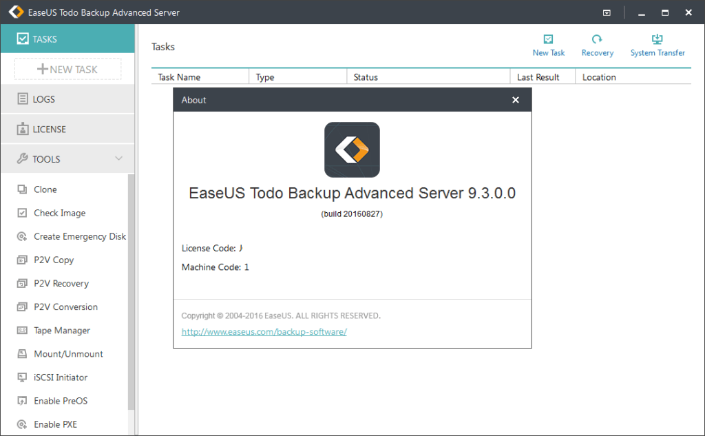 EaseUS Todo Backup Advanced Server Full Version