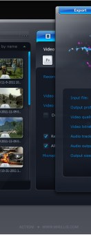 mirillis action Video recordings export window