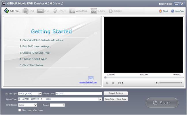 GiliSoft Movie DVD Creator Crack Serial Key Full Version