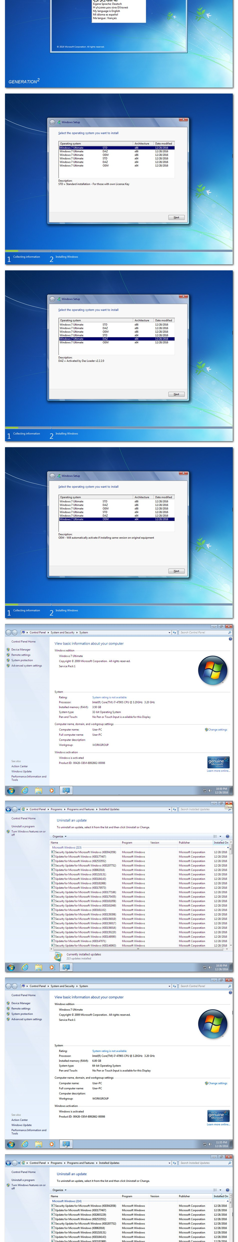 Windows 7 SP1 Ultimate ISO Activated 2017
