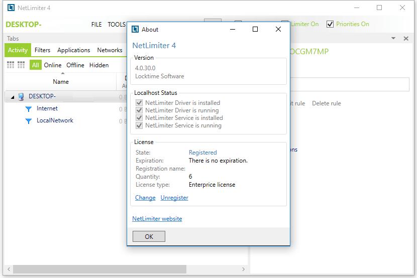 Locktime Software NetLimiter Enterprise Crack Full