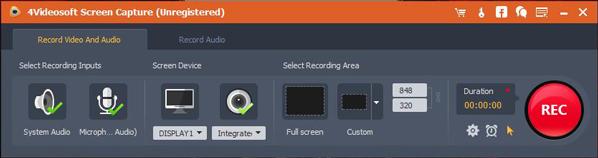 4Videosoft Screen Capture Full Crack
