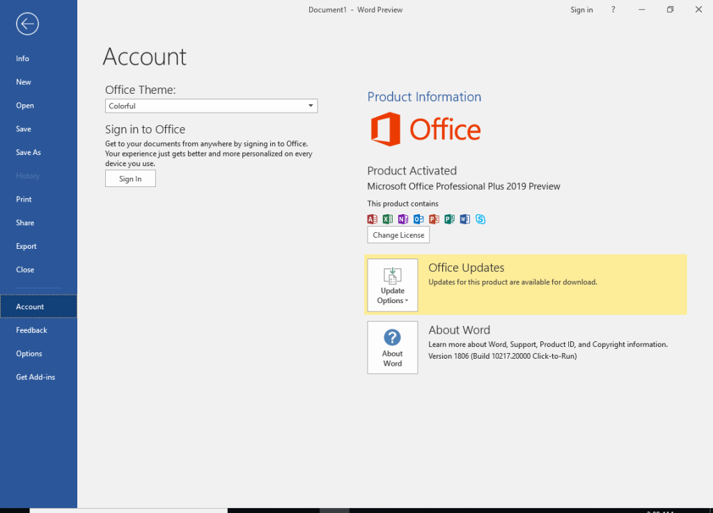 Microsoft Office 2019 Full Version Crack