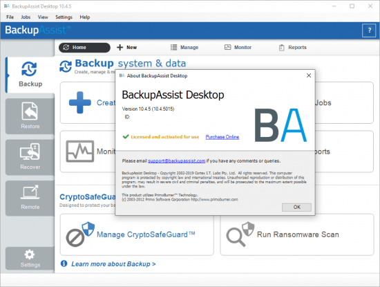 BackupAssist Desktop Seriak Key