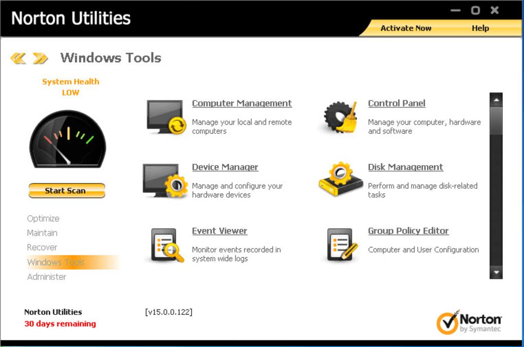 Norton Utilities Premium Crack Key