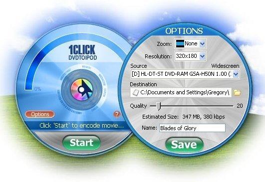1CLICK DVDTOIPOD Crack Key