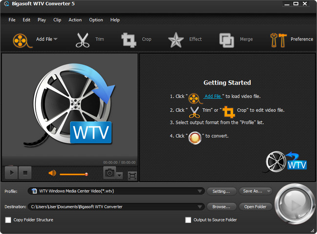 Bigasoft WTV Converter Crack Serial Key