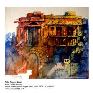 artist of Bangladesh, watercolor artist, Bangladeshi Artist, old dhaka, old dhaka Painting, Panam pagar